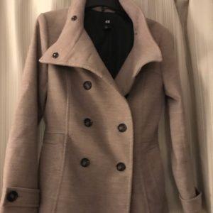 H&M tan wool pea coat